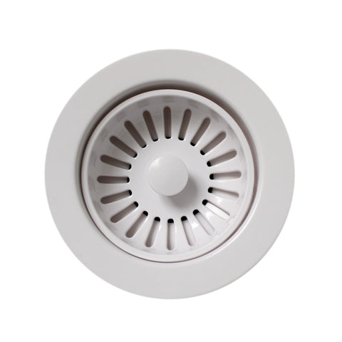 Whitehaus 3 1/2'' Basket Strainer for Fireclay Sinks - RNW50-WH White