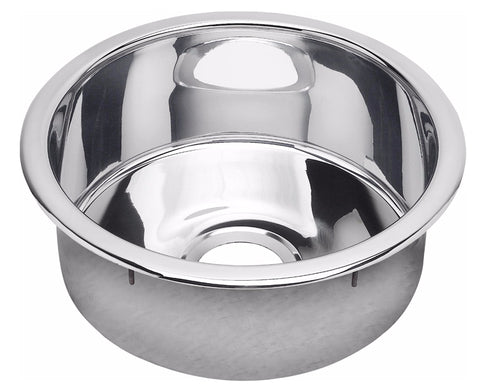 "Elkay Stainless Steel 16-3/8"", Single Bowl Dual Mount Bar Sink, Mirror, Round, SCF16FBSM"