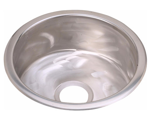 "Elkay Stainless Steel 16-3/8"" Single Bowl Dual Mount Bar Sink, Rugged Textured, Round, SCF16FBSR"