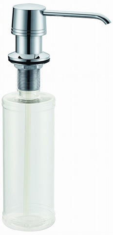 Dawn Liquid Soap/Lotion Dispenser, Brass Construction pump with Plastic Refillable Bottle, SD6306