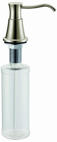 Dawn Liquid Soap/Lotion Dispenser, Brass Construction pump with Plastic Refillable Bottle, SD6325