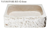 "Stone Vessel Sink, 18″ x 15"" Roma Travertine, Allstone Group, VF18155-BE-RT"