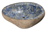"Bathroom Vessel Sink, 20-1/2"" Amberstone Natural Boulder Granite, Allstone Group, V-VNRAMS-S-#014 - Showroom Sinks"