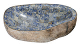 "Bathroom Vessel Sink, 22-1/2"" Amberstone Natural Boulder Granite, Allstone Group, V-VNRAMS-S-#017 - Showroom Sinks"