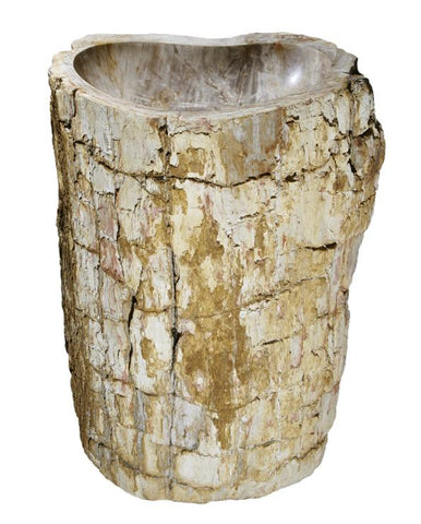 "Petrified Wood Pedestal Sink, 26"", Allstone Group, VPS-PEWD-1"
