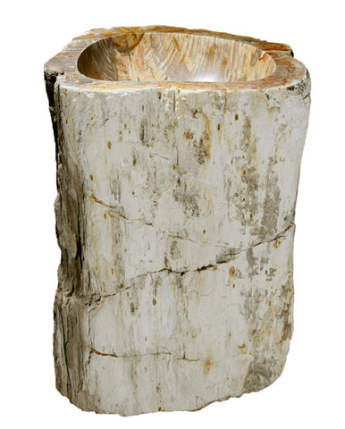 "Petrified Wood Pedestal Sink, 26"", Allstone Group, VPS-PEWD-2"