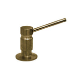 Whitehaus WH201 Solid Brass Kitchen Counter Top Soap / Lotion Dispenser - Antique Brass