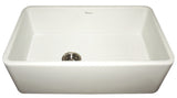 "30"" Fireclay Farmhouse Sink, Single Bowl, Thick Wall, Reversible, Whitehaus, WH3018 - Showroom Sinks"