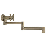 Whitehaus Modern Wall Mount Retractable Kitchen Pot Filler - Brushed Nickel WH33-515-C-BN
