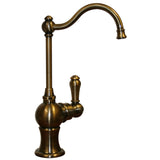 Whitehaus Brass Traditional Kitchen Drinking Water Dispenser - Antique Brass WHFH3-C4121-AB