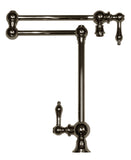 Whitehaus Deck Mount Double Jointed Traditional Pot Filler - WHKPFDLV3-9555