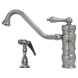 Whitehaus Deck Mount Lever Kitchen Faucet with Side Spray - WHKTSL3-2200