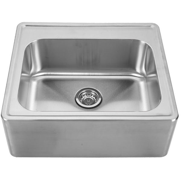 Whitehaus Stainless Steel 25'' Single Bowl Kitchen Apron Sink WHNAP2522