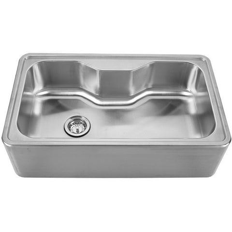 Whitehaus Stainless Steel 30'' Single Bowl Apron Kitchen Sink WHNAPA3016