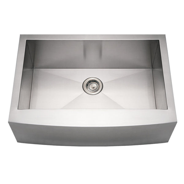 Whitehaus Stainless Steel 30'' Arched ApronFront Kitchen Sink WHNCMAP3021