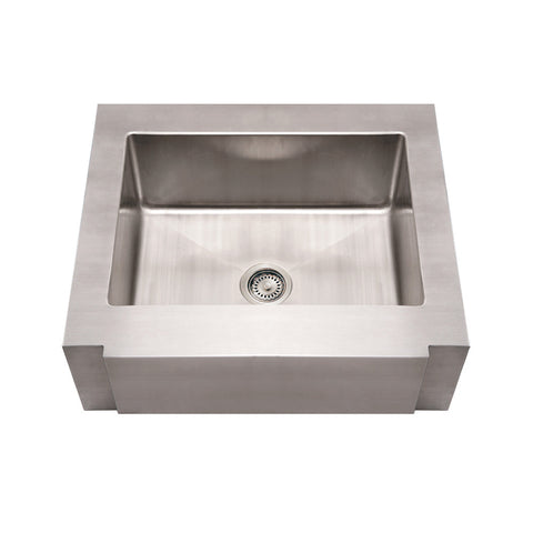 "Whitehaus Stainless Steel 30"" Single Apron Front Kitchen Sink WHNCMAP3026"