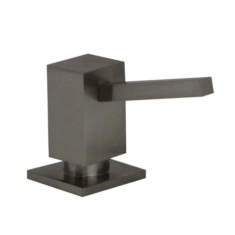 Whitehaus WHSQ-SD003 Modern Solid Brass Q-Haus Soap / Lotion Dispenser - Brushed Nickel