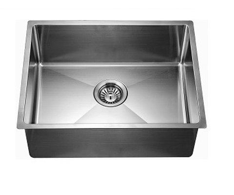 "Dawn 26-1/2"" Stainless Steel Undermount Extra Small Corner Radius Single Bowl, XSR251610"