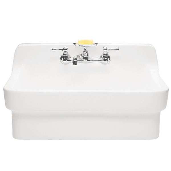 "American Standard 30"" Country Farmhouse Kitchen Sink With Backsplash"