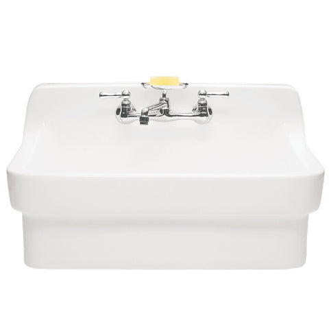 "American Standard 30"" Country Porcelain Farmhouse Sink With Backsplash, 9062.008.020 - Showroom Sinks"