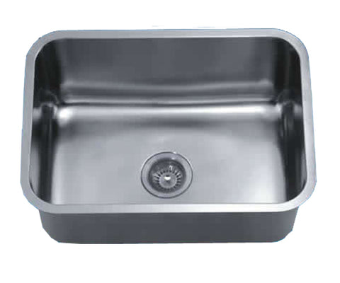 "Dawn 25"" Stainless Steel Undermount Kitchen Sink, Single Bowl, ASU2316"