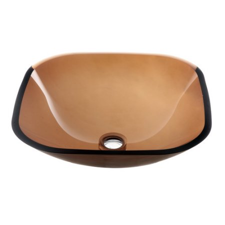 Dawn Tempered Glass Vessel Bowl, GVB84010SQ