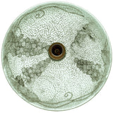 "Polaris 16 1/2"" Cracked Vineyard Glass Round Bathroom Vessel Sink - P434"