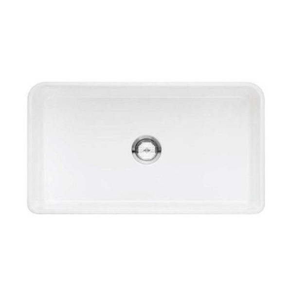 "Blanco Cerana 33"" Fireclay Farmhouse Sink, Single Bowl - Showroom Sinks"