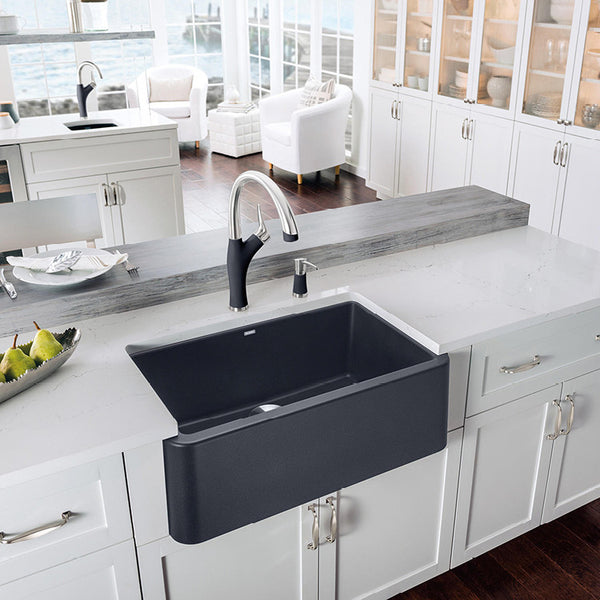 Blanco Ikon 30 Quot Apron Front Granite Composite Sink In Silgranit Puradu Showroom Sinks