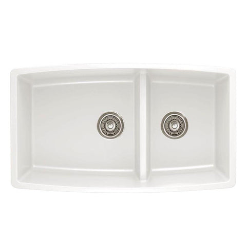 "Blanco Performa 33"", Medium 1-3/4 Bowl Granite Composite Sink In Silgranit PuraDur - Showroom Sinks"