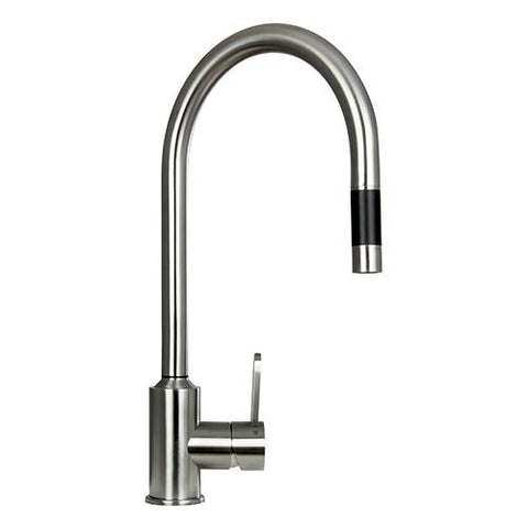 "Boann Flor 16.7"" High Kitchen Pull Out Faucet Stainless Steel BNYKF-C20S"