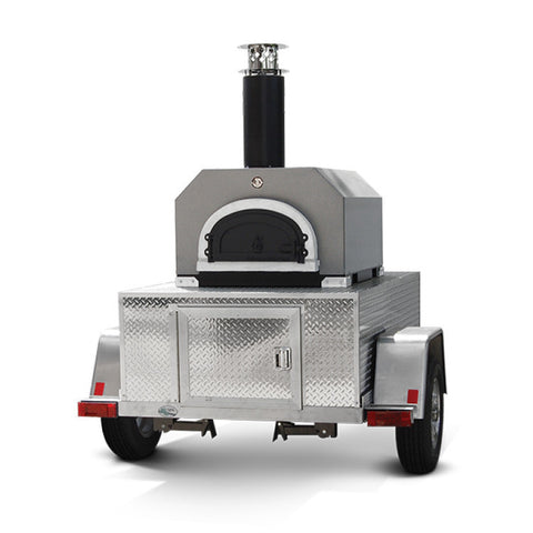 Chicago Brick Oven Wood Fired Pizza Oven Tailgate Trailer - CBO-750 - Real Pizza Ovens
