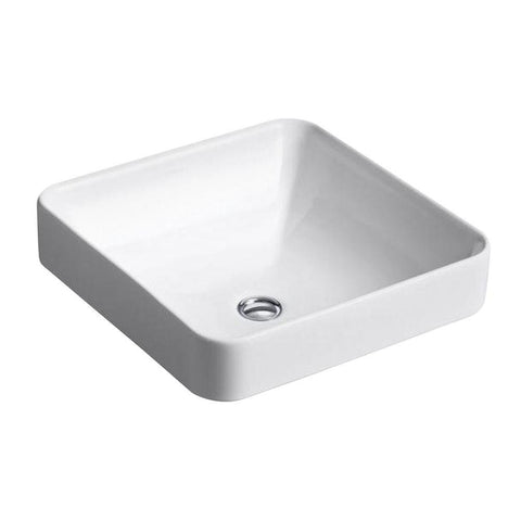"Kohler Vox 16"" Square vessel bathroom sink - White K-2661-0"