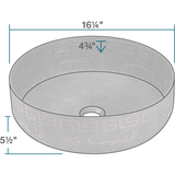 "Bronze Vessel Sink, 16 1/4"", Round, Aged Patina, Polaris, P359 - Showroom Sinks"