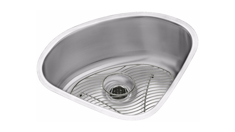 "Stainless Steel Bar Sink Kit, 14"", Lustertone, Elkay, ELUH1111DBG"