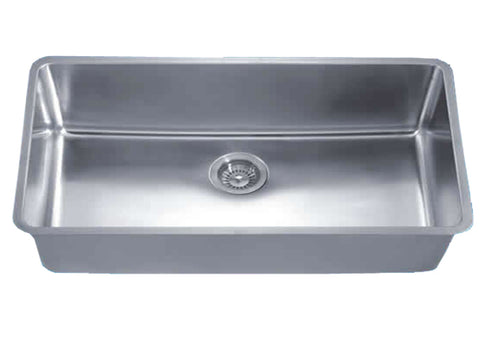 "Dawn 32"" Stainless Steel Undermount Kitchen Sink, Single Bowl, DSU3017"