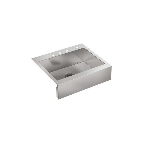 "Kohler Vault 30"" Top-Mount Single-Bowl Stainless Steel Kitchen Sink With Tall Apron - K-3935-4-NA"