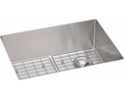 "Elkay Crosstown Stainless Steel 25-1/2"" x 18-1/2"" x 9"", Single Bowl Undermount Sink Kit, ECTRU24179RDBG"