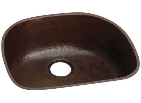 "Antique Hammered Copper 23-9/16"", Single Bowl Undermount Sink, Elkay, ECU2118ACH - Showroom Sinks"