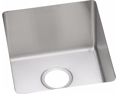 "Elkay Crosstown 16 Gauge Stainless Steel 16"" x 18-1/2"" x 10"", Single Bowl Undermount Sink, Square"