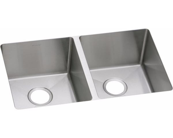 "Elkay Crosstown 16 Gauge Stainless Steel 30-3/4""L x 8""D, Equal Double Bowl Undermount Sink, EFRU3118"