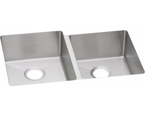 "Elkay Crosstown 16 Gauge Stainless Steel 31-1/4"" x 20-1/2"" x 8"", Offset Double Bowl Undermount Sink, EFRU3120R"
