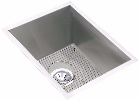 "Elkay Crosstown 16 Gauge Stainless Steel 16-1/2"" x 20-1/2"" , Single Bowl Undermount Sink Kit, EFU141810DBG"