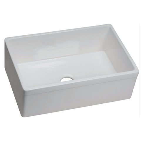 "Elkay 29-7/8"" Fireclay Single Bowl Farmhouse Kitchen Sink - SWUF28179WH"