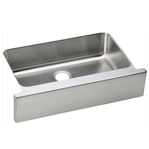 "Elkay 33"" Lustertone Stainless Steel Single Bowl Farmhouse Kitchen Sink - ELUHFS2816"