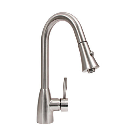 Dyconn Gila - Contemporary Pull-Out Kitchen Faucet - Brushed Nickel PLK402-BN