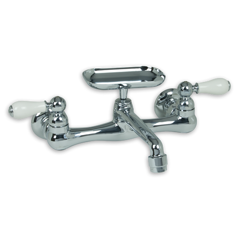 American Standard Heritage 2-Handle Wall-Mount Kitchen Faucet With Soap Dish, 7295.252.002 - Showroom Sinks