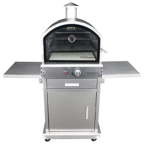 HomComfort Gas Stainless Steel Pizza Oven - HCP16SS - Real Pizza Ovens