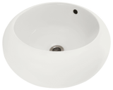 "Porcelain Vessel Sink, 17"", Round, Polaris, P2082"