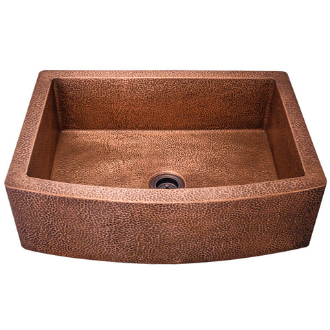 "Polaris 33"" Single Bowl Copper Farmhouse Sink P419"